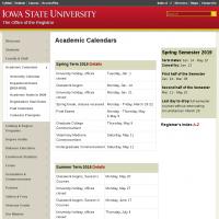 Iowa State Academic Calendar 2021 Iowa State University Academic Calendars | Department of Chemistry